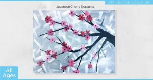 Japanese Cherry Blossoms - SLC Painting Experience...