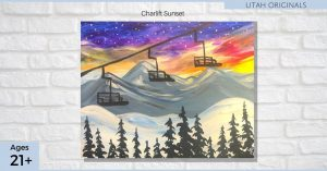 Chairlift Sunset - SLC Paint & Sip Night