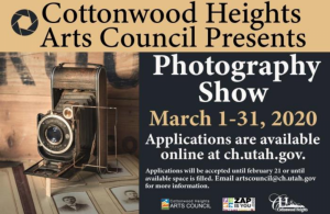 Cottonwood Heights Arts Council 2020 Photography S...