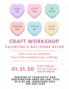 Valentine's Day/Home Decor Craft Workshop