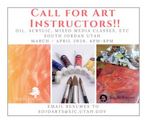Call for Art Instructors