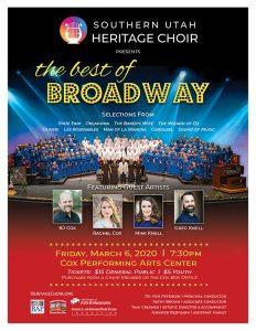 Southern Utah Heritage Choir Spring Concert 2020