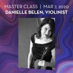 Master Class Danielle Belen, Violinist
