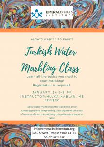 Water Marbling (Turkish Ebru) Art Workshop