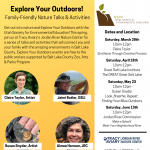 Explore Your Outdoors! Family-Friendly Nature Talks & Activities- VIRTUAL