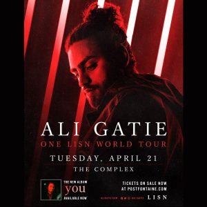 Ali Gatie - ONE LSN WORLD TOUR -POSTPONED