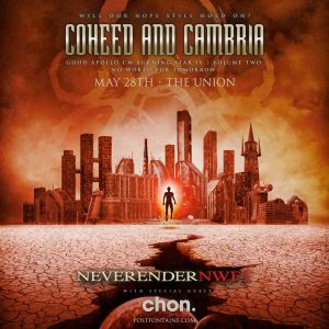 Coheed and Cambria - NEVERENDER NWFT Tour -POSTPON...
