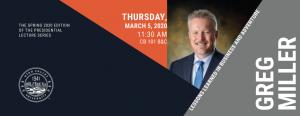 UVU Presidential Lecture Series - Greg Miller