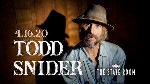 Todd Snider -POSTPONED