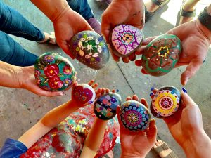Mandala Rock Painting - All Ages