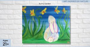 Bunny Garden - Park City Easter Painting