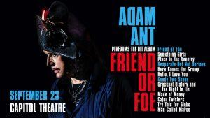 Adam Ant: Friend or Foe Tour- RESCHEDULED
