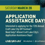 Application Assistance Day in SLC! -CANCELLED