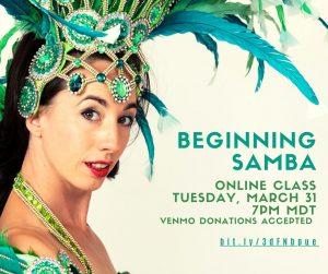 ONLINE - Beginning Samba & Basic Dance Techniq...