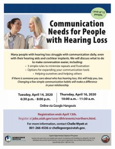 Communication Needs for People with Hearing Loss