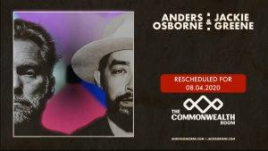 Anders Osborne & Jackie Greene- Postponed