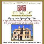 2020 Spring City Heritage Day -VIRTUAL