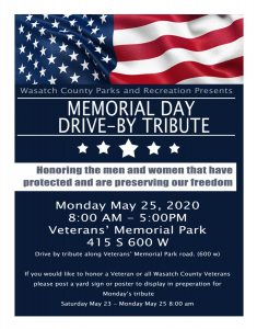 2020 Memorial Day Program Drive-By Tribute