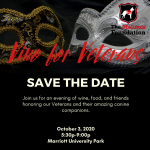 "Vino for Veterans ""Behind the Mask"" Gala"