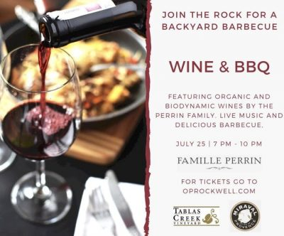 The Rock presents an Evening of Wine, Live Music & Barbecue