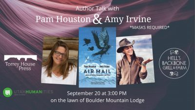 Pam Houston and Amy Irvine at Boulder Mountain Lodge