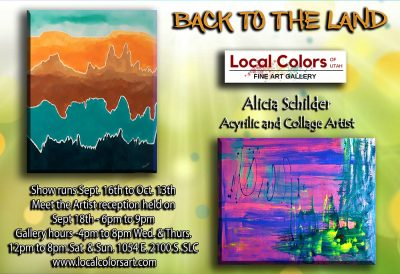 """Local Colors of Utah Art Gallery presents a new artist exhibit entitled """"Back to the Land."""""""
