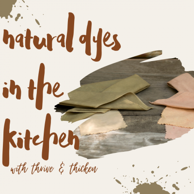 Natural Dyes in the Kitchen- VIRTUAL