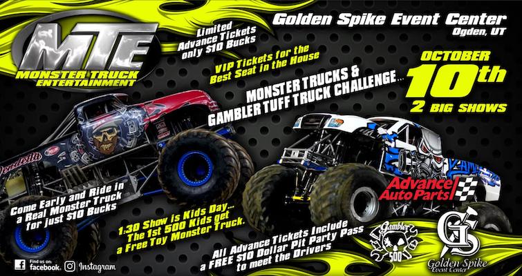 Monster Truck Nitro Tour Ogden Golden Spike Event Center At Golden Spike Event Center Ogden Ut Outdoor Recreation