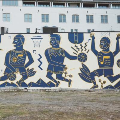 Karabo Poppy Moletsane Utah Jazz Mural
