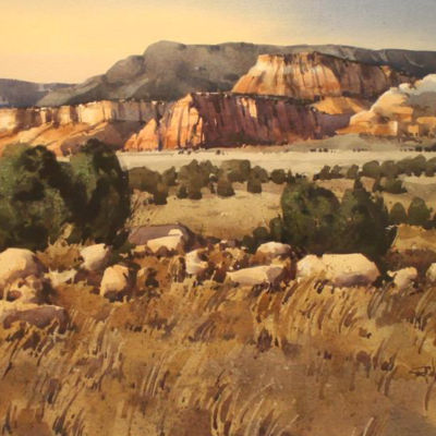 Approaching Ghost Ranch