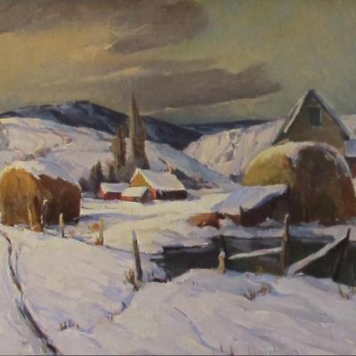 Haystacks in Winter