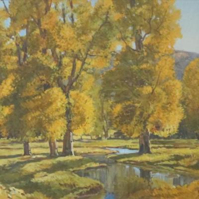 Autumn Trees with Stream