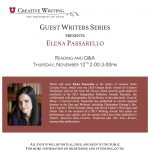 Guest Writers Series with Elena Passarello
