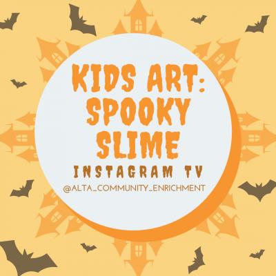 Kids Art: Spooky Slime