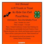 3rd Annual 4-H Trunk or Treat So Kids Can Eat Food Drive