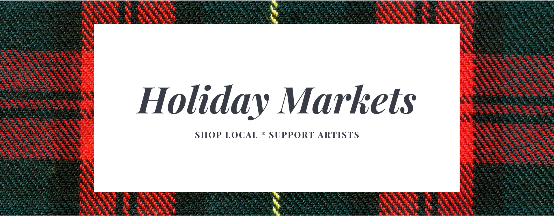 Holiday market theme page