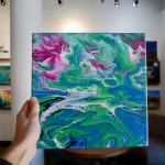 Go With the Flow: Acrylic Pour Painting (Ages 9+)