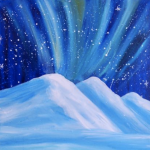 Painting at The Peaks: Aurora