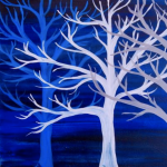 Painting at The Peaks: Frozen Trees