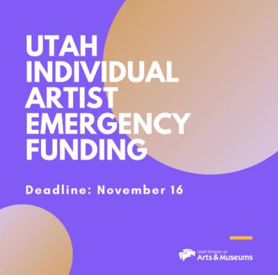 Utah Individual Artist Emergency Funding