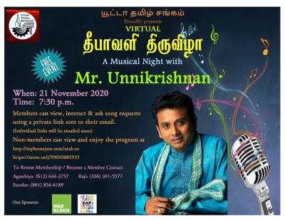Utah Tamil Sangam - 2020 Diwali Celebration