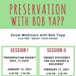 Preservation with Bob Yapp Session I
