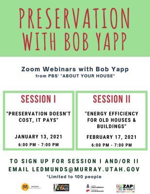Preservation with Bob Yapp Session I
