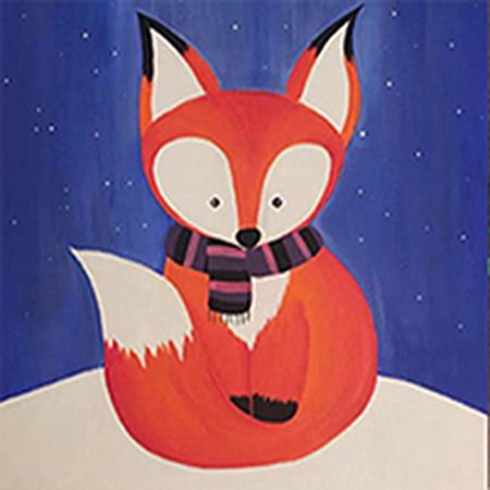 WINTER FOX PAINTING VIRTUAL CLASS