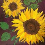 SUNFLOWER PAINTING VIRTUAL CLASS