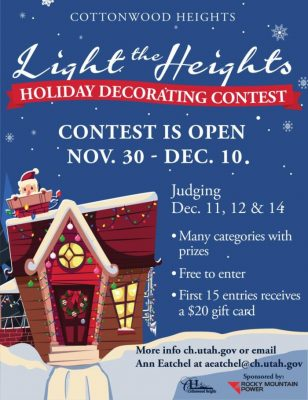 Light The Heights 2020 Holiday Decorating Contest