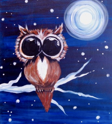 Painting at The Peaks: Midnight Owl