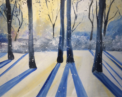 Painting at The Peaks: Snow Shadows