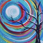 Painting at The Peaks: Rainbow Winter