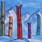 Painting at The Peaks: Skis